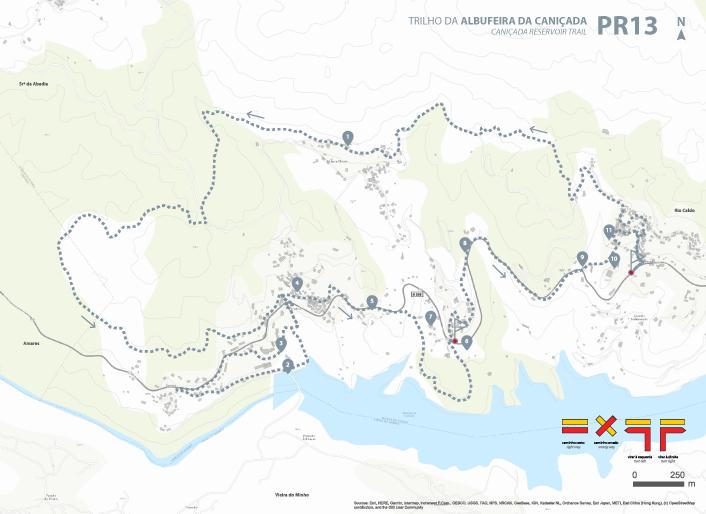 Mapa Trilho, PR13 Trilho da Albufeira da Caniçada