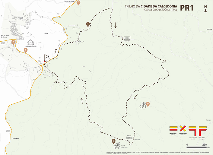 Mapa Trilho, Cidade da Calcedónia