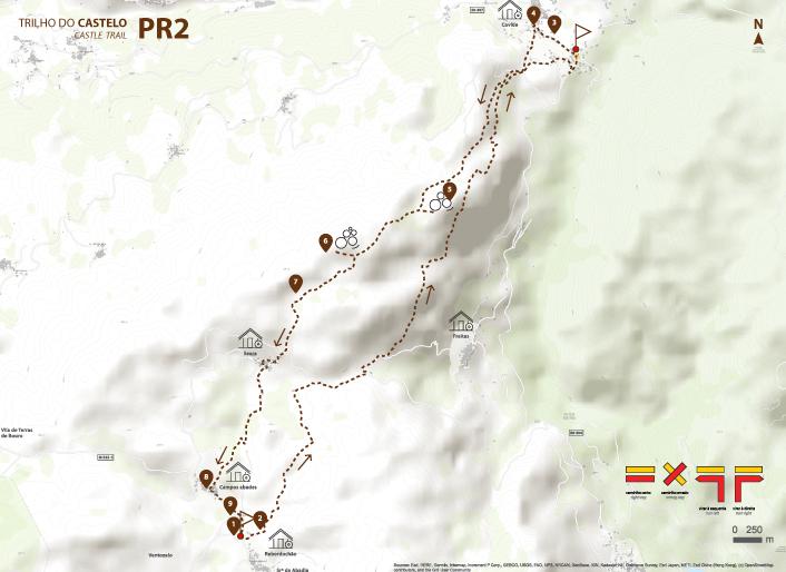 Mapa Trilho do Castelo