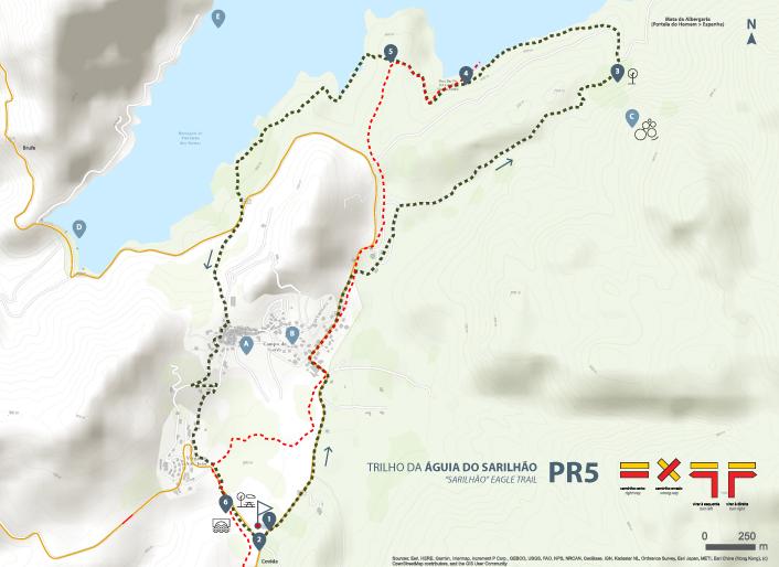 Mapa de Percurso - PR5 Trilho da Águia do Sarilhão