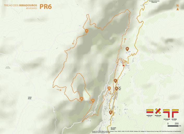 Mapa de Percurso - PR6 Trilho dos Miradouros
