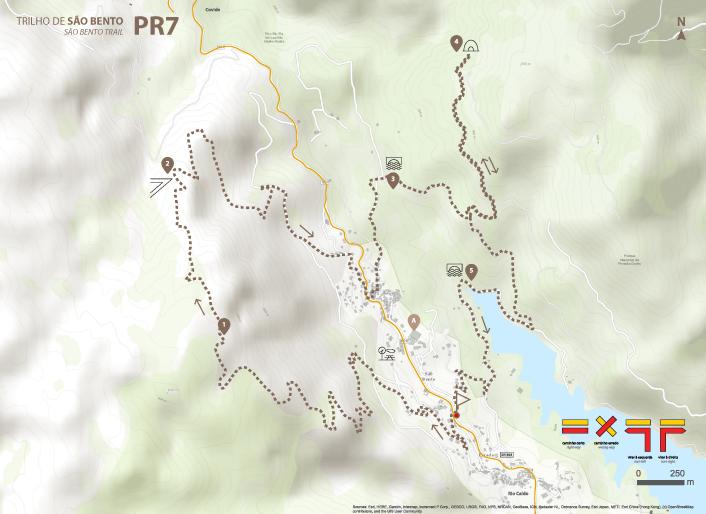 Mapa de Percurso - PR4 Trilho dos Moinhos e Regados Tradicionais