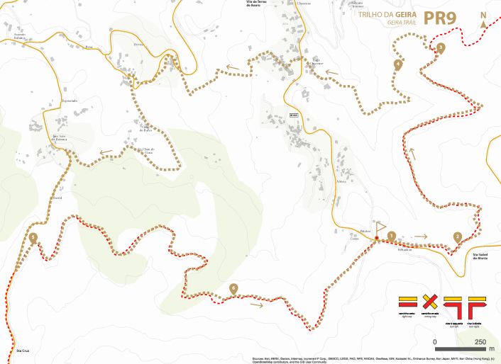Mapa de Percurso - PR9 Trilho da Geira