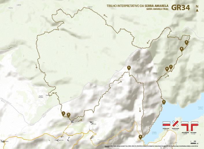 Mapa Trilho, GR34 Trilho da Serra Amarela