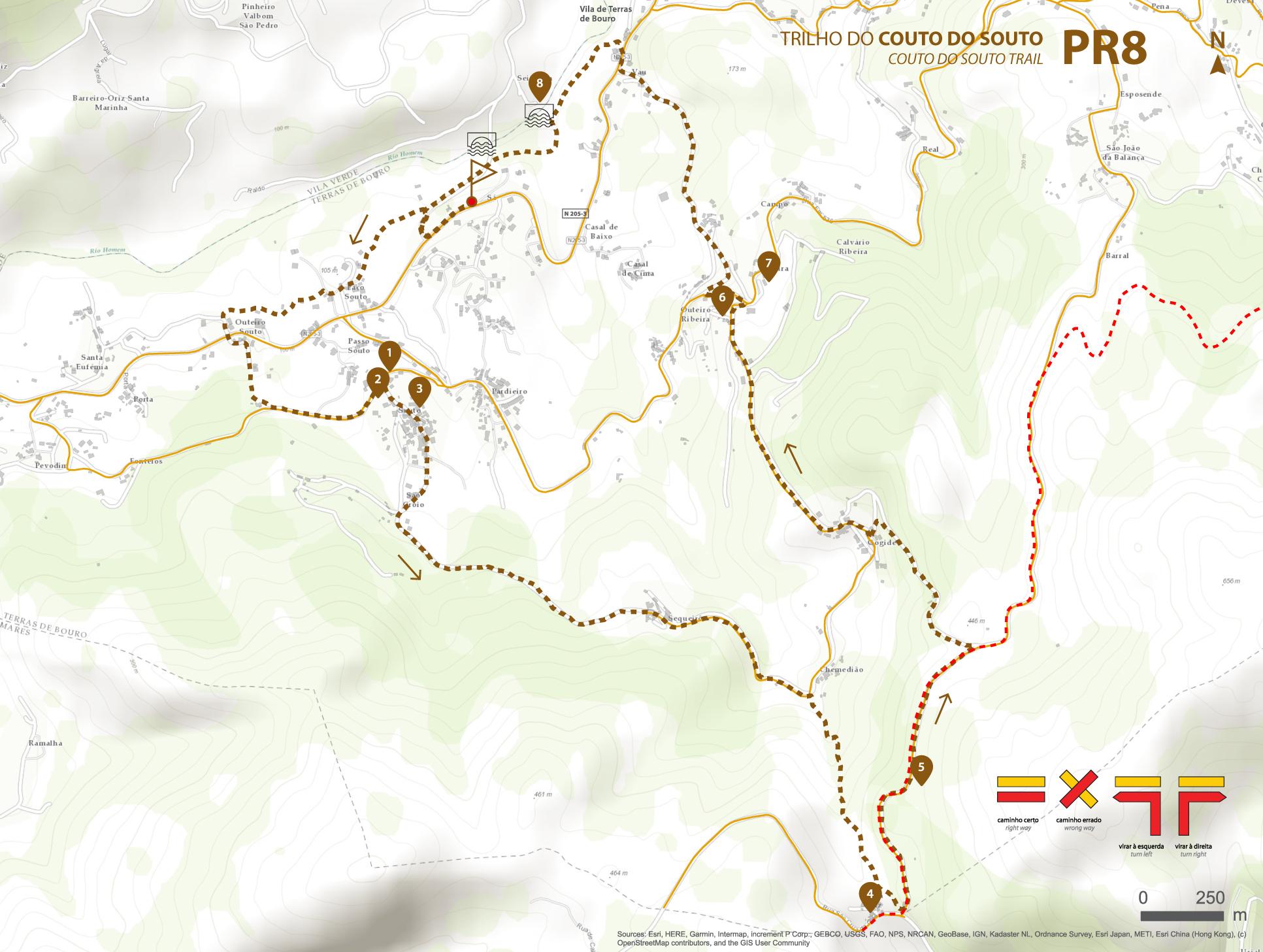 Mapa de Percurso - PR8 Trilho Couto do Souto